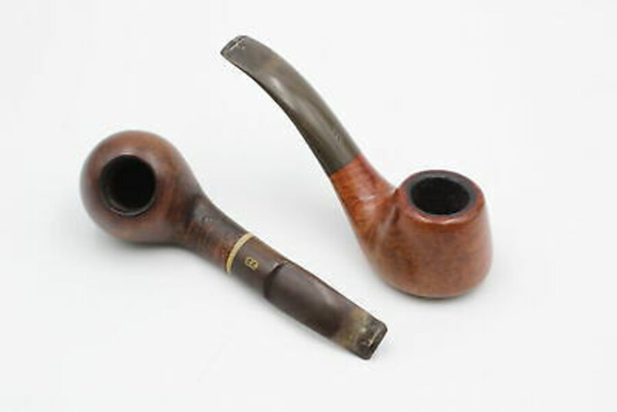 Antique 2 x Assorted Vintage Estate Smoking Pipes Inc. Chacom 258 & Danish Sovereign 337