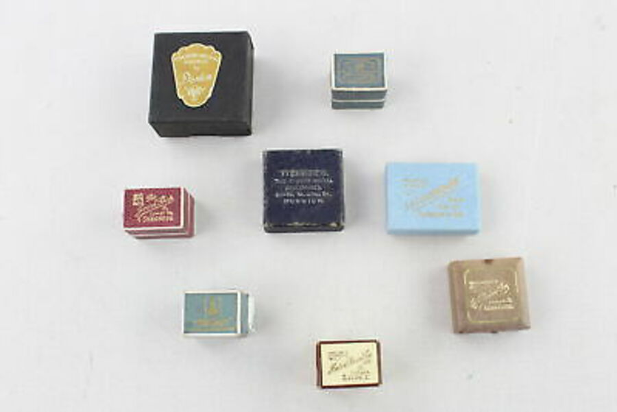 Antique 8 x True Vintage BOXES inc. Rings, Velvet Lined, Blue, Red,