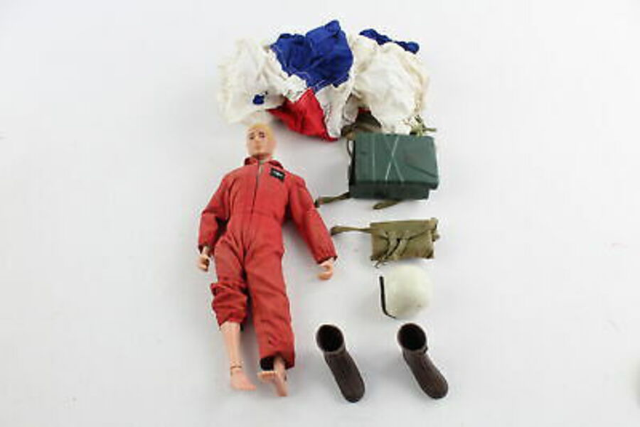 Antique Vintage 1960s PALITOY ACTION MAN Doll & 1st Issue Red Devil Outfit / Accessories