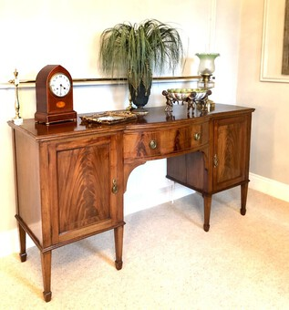 Antique Edwardian Mahogany Inlaid Sideboard by Hamptons, Pall Mall, London
