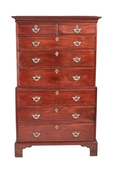 Magnificent George III Mahogany Chest on Chest