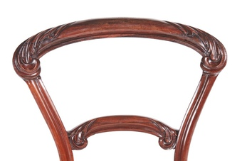 Antique Exceptional Quality Set of 6 Victorian Carved Rosewood Dining Chairs