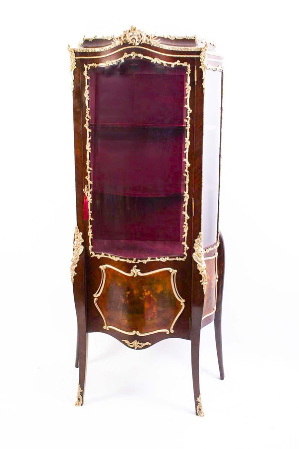 Antique French Vernis Martin Display Cabinet c.1900