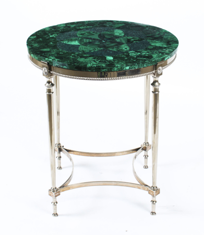 Antique Antique French Art Deco Malachite Occasional Table Circa 1920