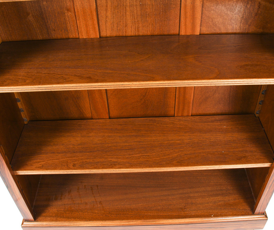 Antique Bespoke Pair Mid Century Modernist Revival Low Rosewood Open Bookcases