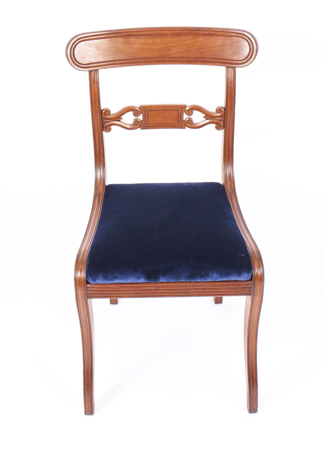 Antique Antique Set 14 Regency Mahogany Dining Chairs 19th Century C1820