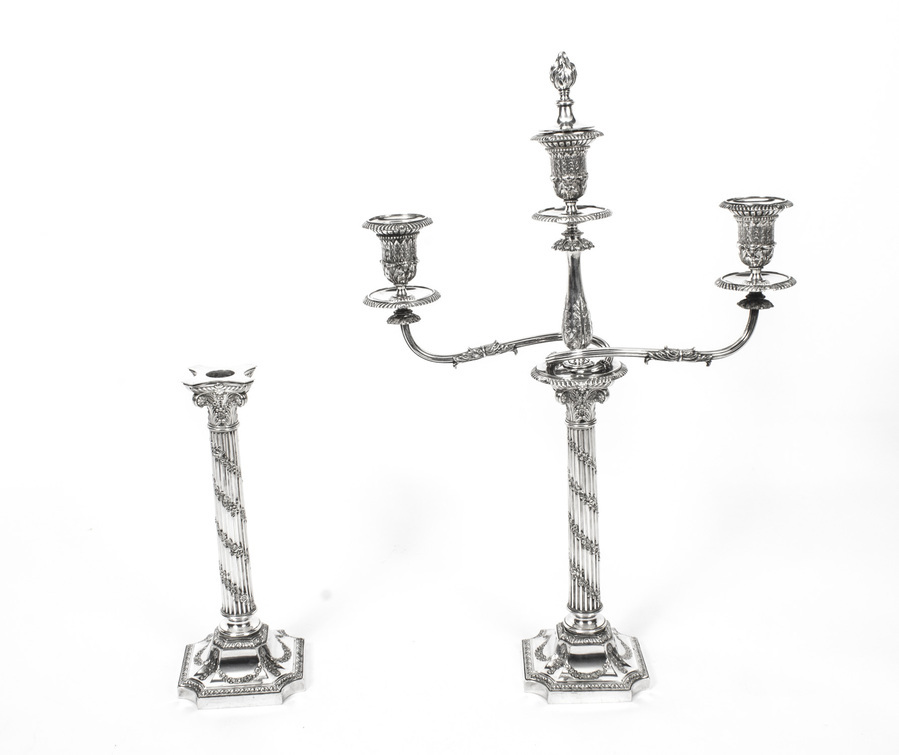 Antique Antique Pair Victorian 3Light Candelabra H Woodward C1880