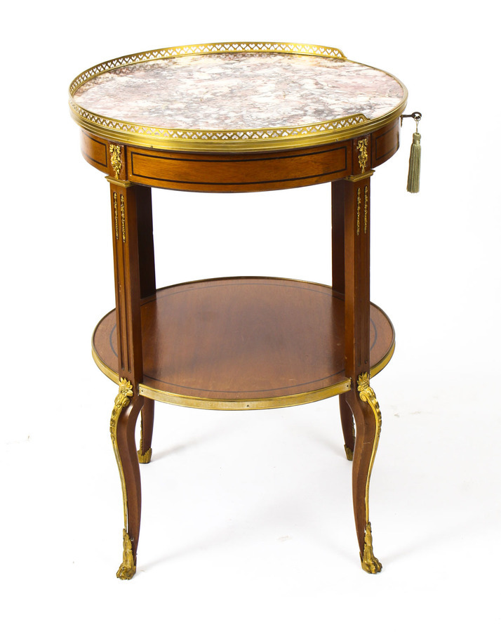 Antique Antique French Louis Revival Marble & Ormolu Occasional Table 19th C