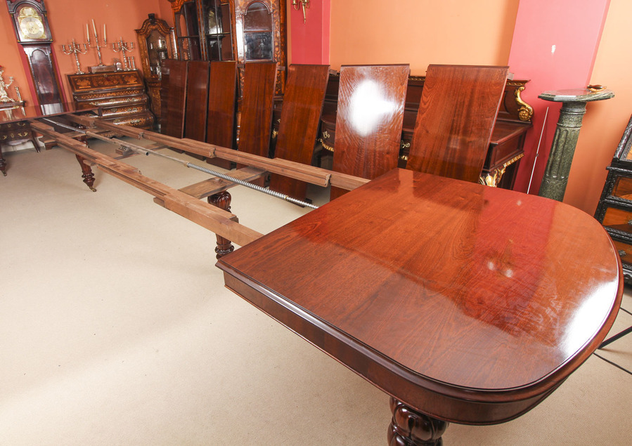 Antique Bespoke Huge Handmade 20ft Dining Table & 20 chairs 21st Century
