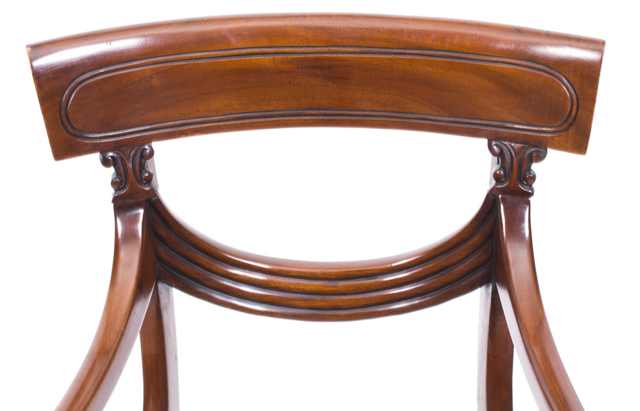 Antique Bespoke10 ft Burr Walnut Regency Style Twin Pillar Dining Table 10 Swag Chairs