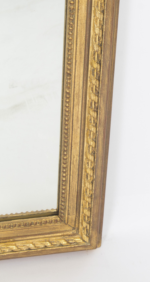 Antique Antique George II Style Parcel Gilt Wall Mirror Circa 1860 143x73cm
