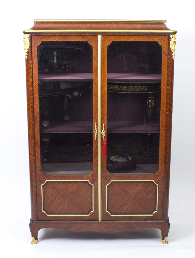 Antique Antique French Ormolu Mounted Display Cabinet Tansien& Dantat 19th C
