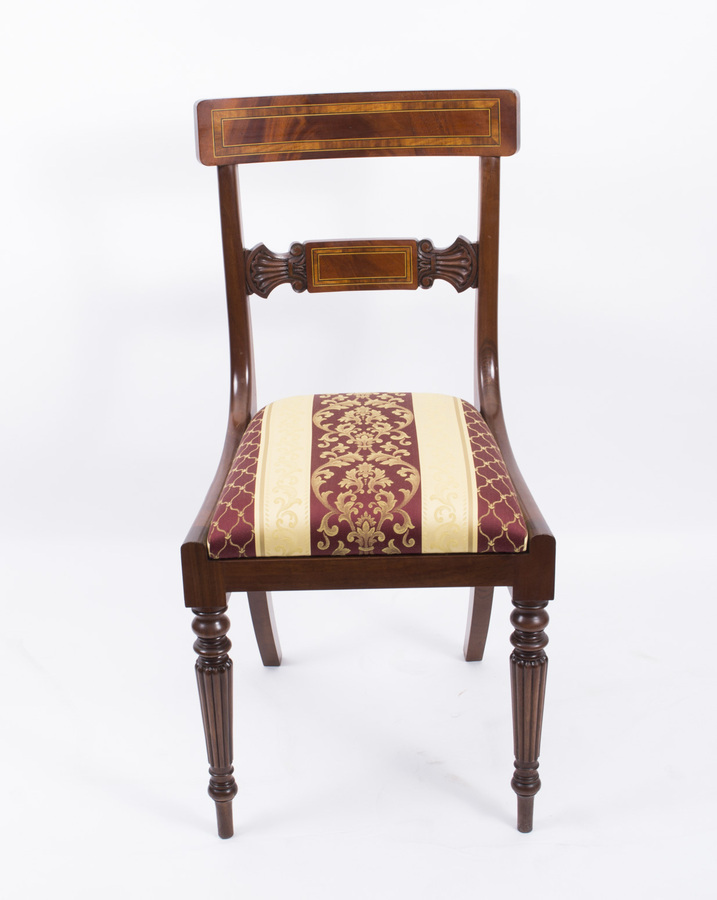 Antique Splendid Bespoke Set of 12 Regency Style Dining Chairs Armchairs