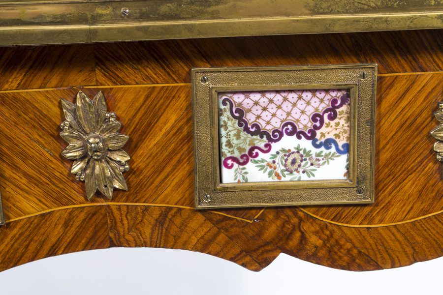Antique Antique French Writing Side Table Porcelain Plaques c.1780
