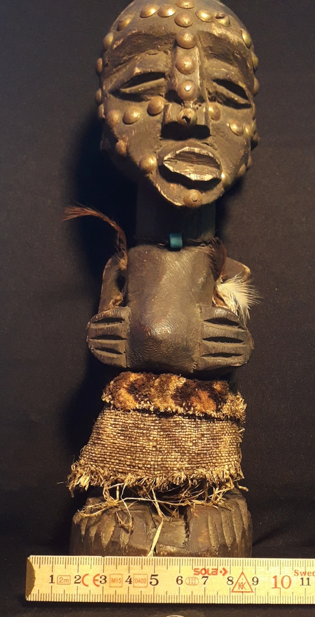 Antique Statuette of spirit- Nkisi Fetish - SONGYE-Congo DRC