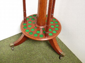 Antique Elegant Billiard Cue stand by Thurston