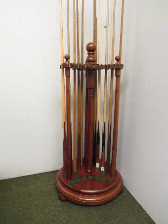 Antique Billiard Cue stand by Burroughes & Watts