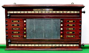 Antique Burroughes & Watts Billiard/Life Pool Scoreboard