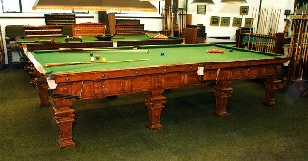 Antique Full Size Billiard table by Norval & Sons, Glasgow