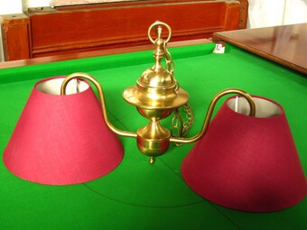 Antique Brass billiard table light for small billiard snooker pool table