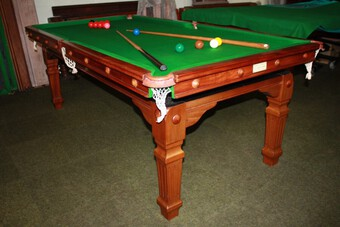 7ft Riley Billiards/Dining Table on Edwardian square fluted legs