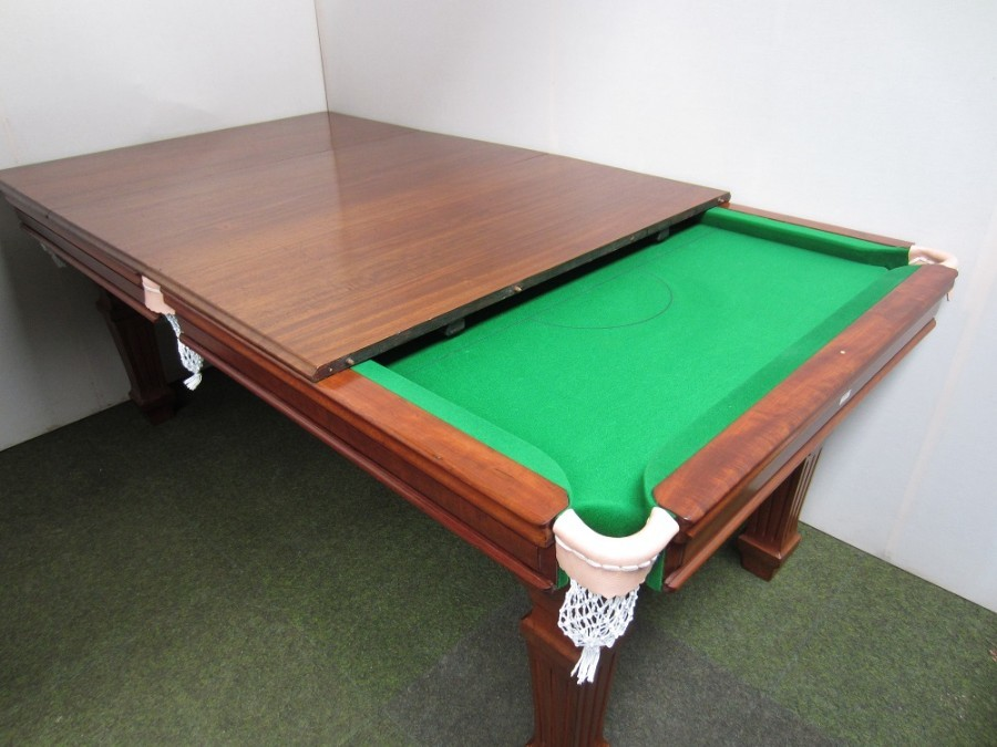 Antique Riley quarter size (6ft x 3ft) Billiard/Dining table in mahogany