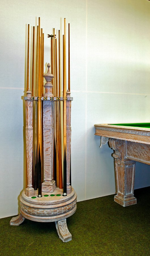 Billiard Cue stand by Burroughes & Watts
