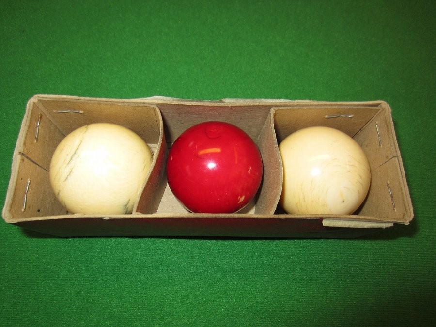 Antique Ivory billiard balls
