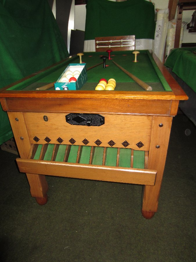 Bar Billiards Table in pale mahogany
