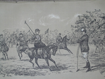 Antique Cuthbert Bradley antique print circa 1893 The winning team professionally mounted