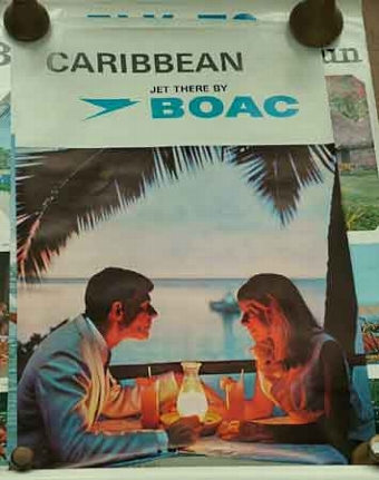 Antique A CARRIBEAN POSTER
