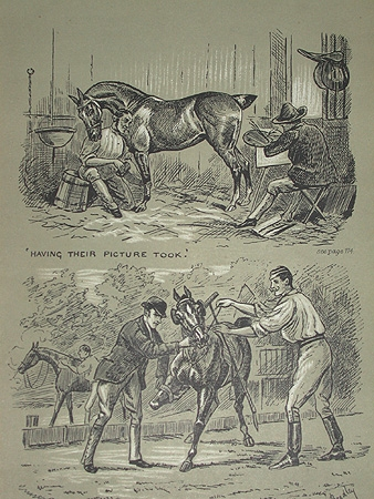 Cuthbert Bradley Polo illustrations a professionally mounted print