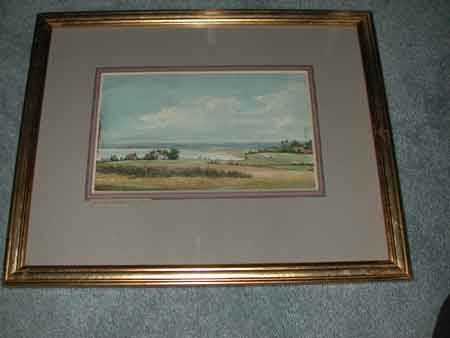 Watercolour by William Linton English born 1791 died 1876 in a giltwood frame