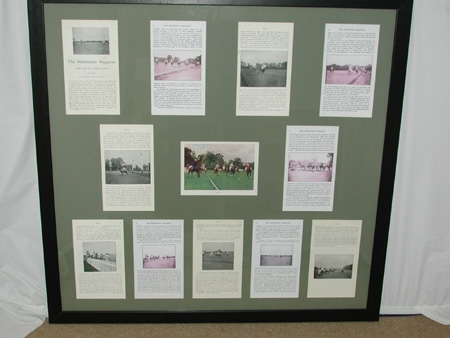 The history of Polo The Bagmington Magazine Polo by The Hon Lionel Lambart.Framed