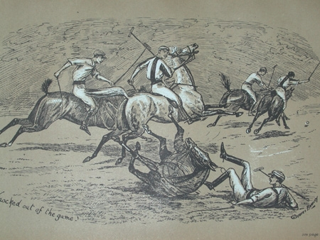 Cuthbert Bradley antique print circa 1893 Knocked out of the game professionally mounted