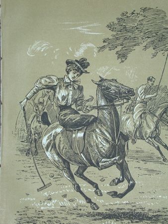 Cuthbert Bradley antique print circa 1893 Polo bewitched professionally mounted