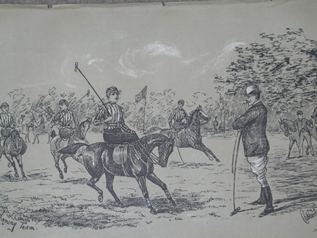 Cuthbert Bradley antique print circa 1893 The winning team professionally mounted