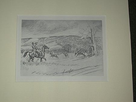 A 20th century mounted print after John Board polo players profesionally mounted