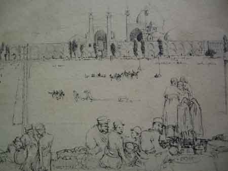 AN EARLY PRINT OF THE FIRST POLO GROUND IN INDIA