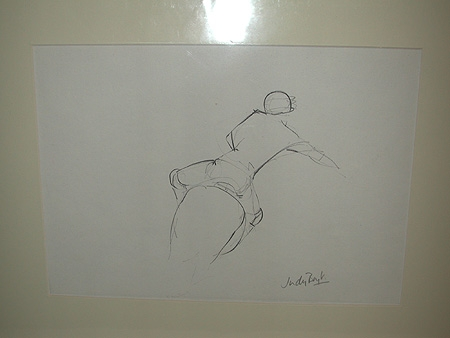 The rider, pencil sketch signed Judy Boyt