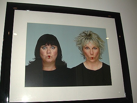 French and Saunders photogrpahed by Trevor Leighton exhibited in Fashion exposures 2001 number 161
