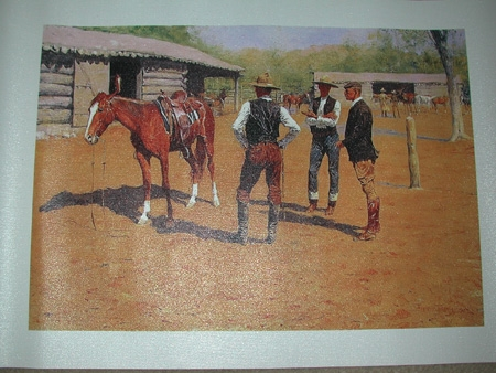 Frederic Remington Buying polo ponies canvas reproduction unframed