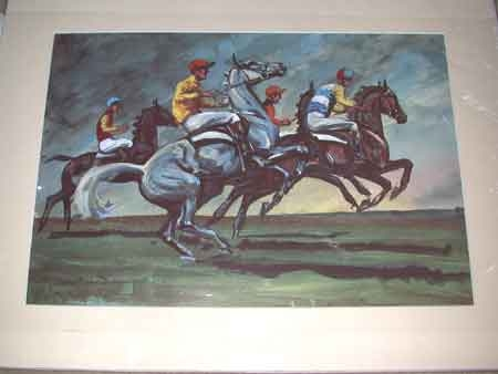 A blacklocks print after John Board Polo Ponies