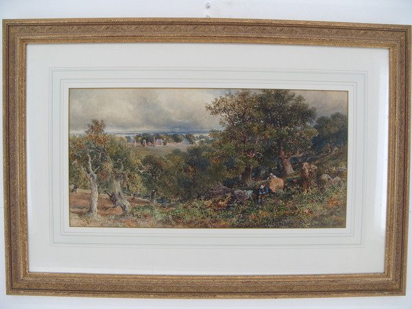 Antique Josiah Wood Whymper - Landscape