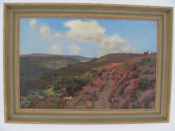 Antique Exmoor Landscape