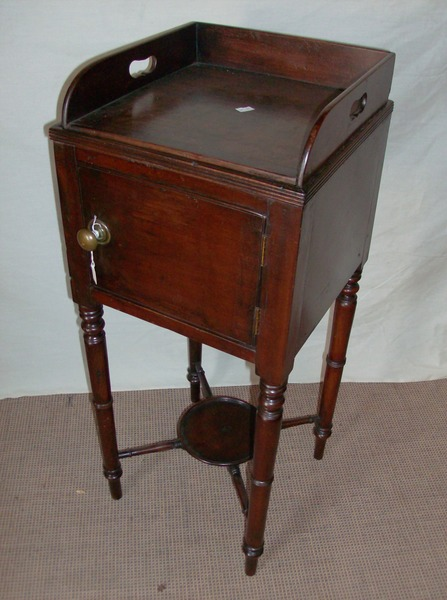 Antique Tray top Bedside Cabinet