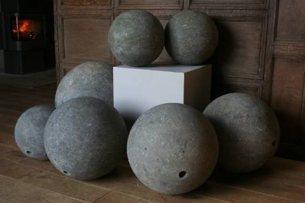 Antique A set of large marble spheres
