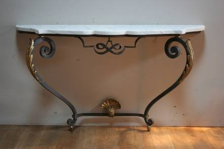 Antique A 1930s iron console tabe