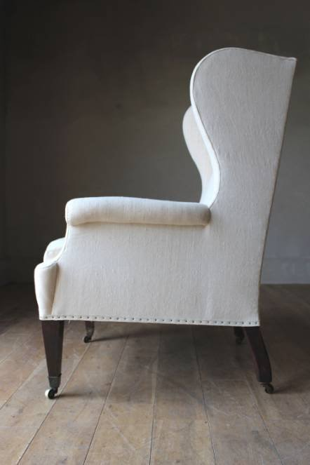 Antique A C19th English wing chair