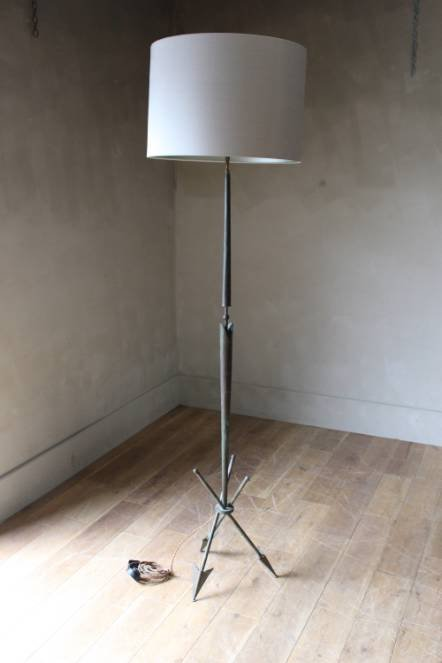 Antique A 1930s40s French Arrow lamp stand